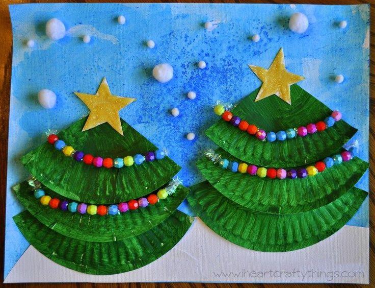 Goedkoop+maar+echt+superleuk!+De+leukste+kerst+kunstwerkjes+voor+kinderen+met+papieren+bordjes.