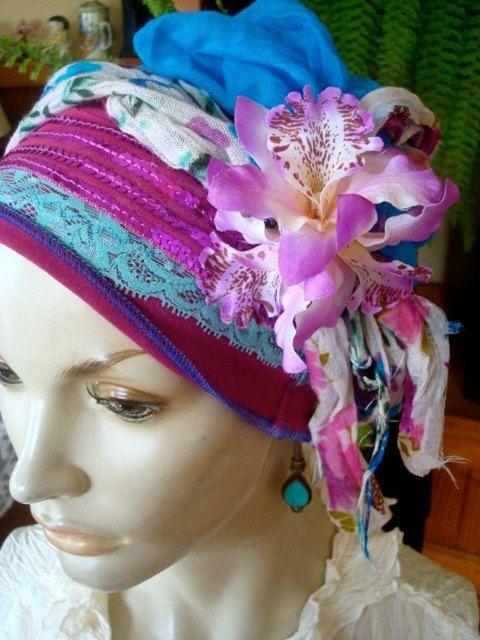 headscarf chemo hat headwrap turban by GypsyLoveHeadbands on Etsy