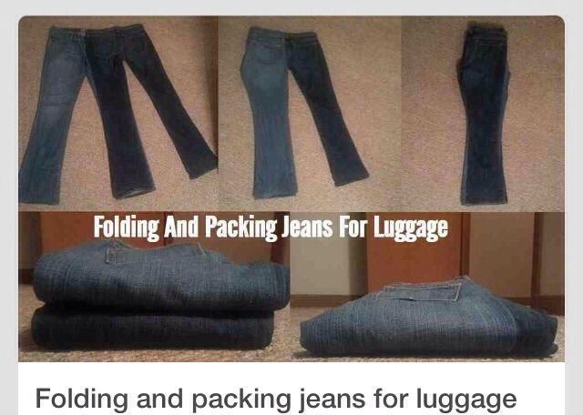 How To Fold Your Pants When Your Packing To Travel. Saves A Lot Of Space And Room !!!!!!(: #Travel #Trusper #Tip