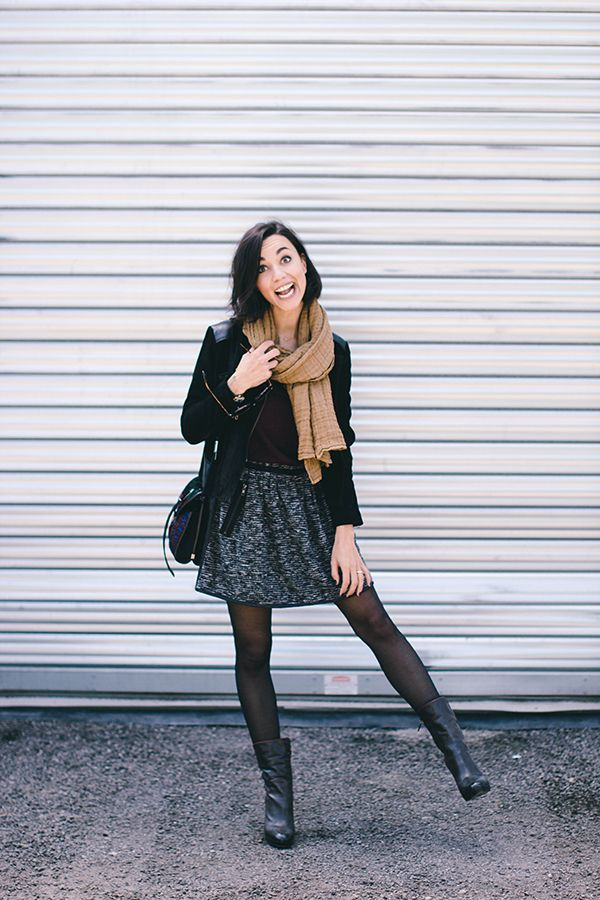 Cute Fall Layers! Add some chic booties to your look.