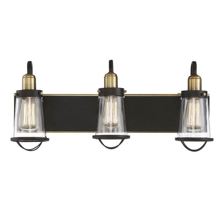 Find an industrial look for your bathroom lighting with the savoy house lansing collection this