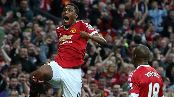 Anthony Martial came off the bench to score on his Manchester United debut