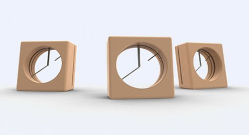 Empty Clock. An environmentally-friendly clock made only from bamboo and metal…