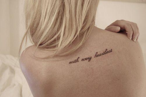 ..: Tattoo Ideas, Tattoo Placements, Quotes Tattoo, Couple Tattoo, Back Tattoo, Tattoo Quotes, Tattoo Patterns, Heartbeat Tattoo, Cool Tattoo