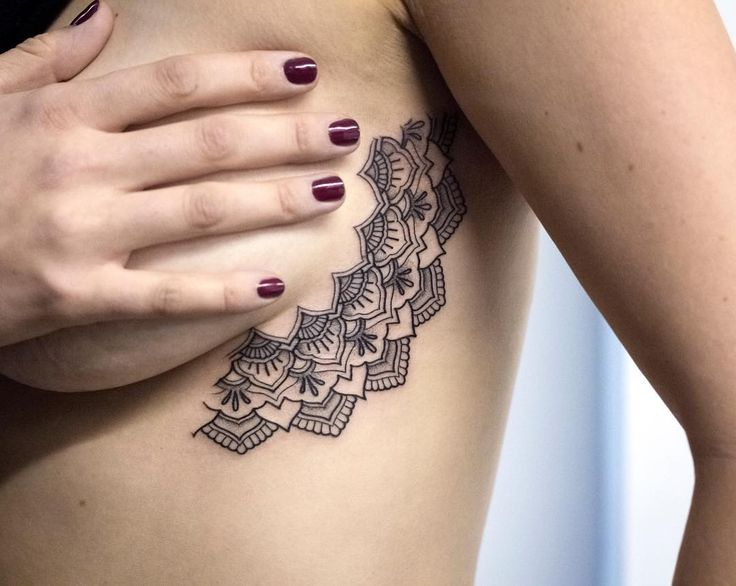 The 25 best ideas about half mandala tattoo on pinterest for Small side boob tattoos