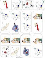tandarts domino 2, dental game free printable