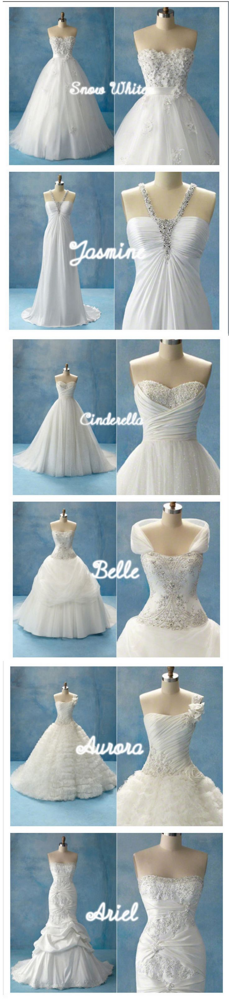 It's my dream to have a Disney princess inspired wedding dress <3
