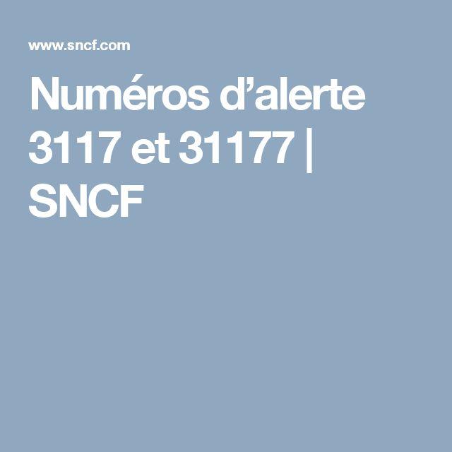 Numéros d'alerte 3117 et 31177 | SNCF
