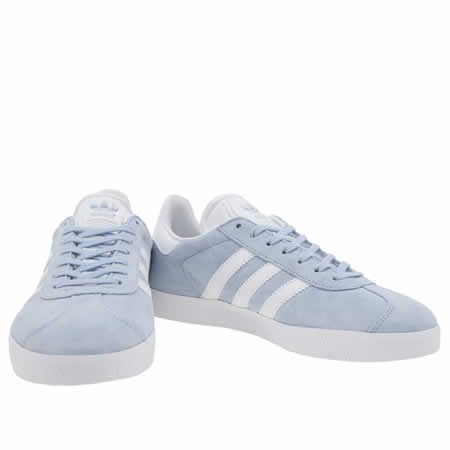 womens adidas pale blue adi gazelle suede trainers
