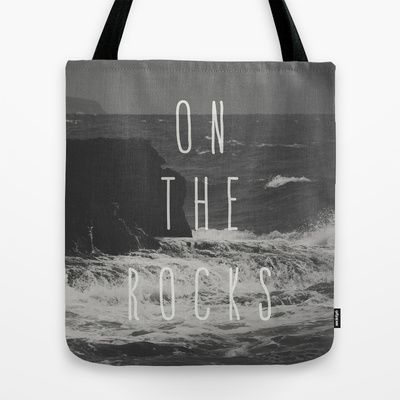 On The Rocks Tote Bag by Nuam - $22.00