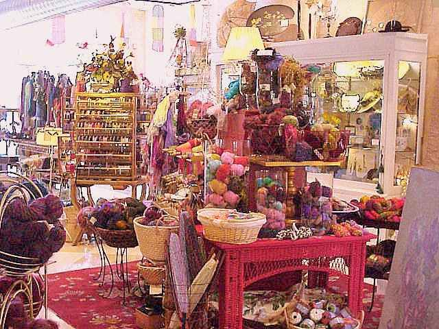 Florilegium in Parkville, MO specializes in yarns, fibers, needleart and antiques