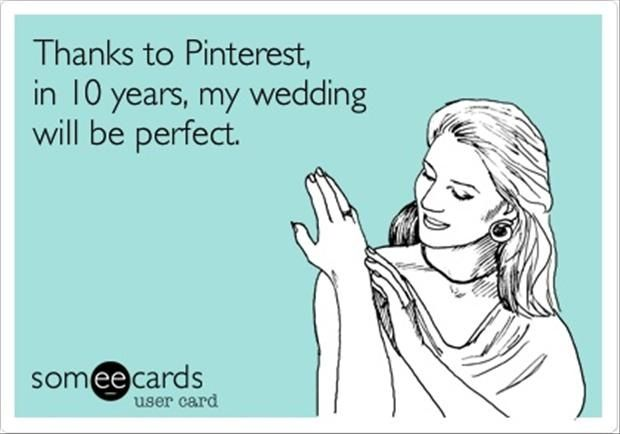 Blog about how Pinterest is making all our weddings look the same! #masonjars #whitestringlights #weddings :)