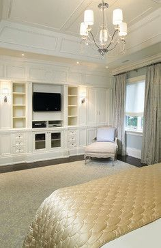 """NEAT custom wall unit for a bedroom, study, great room, or really anywhere this concept would work for you.  This is a project that could easily be taken on by any custom cabinet designer.  For Real Estate fun and news """"Like"""" me at www.facebook.com/amiebozeman.realestate"""