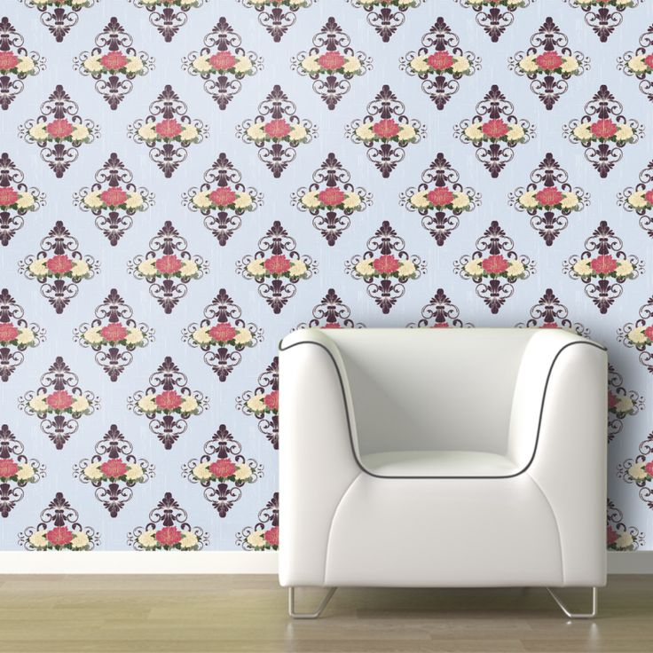Vintage dollhouse removable wallpaper home is where the for Wallpaper home is where the heart is