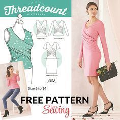 FREE wrap dress and top pattern to download