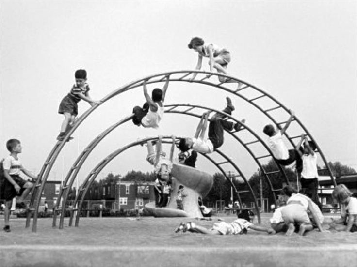 Jungle Gym - before PC Nannies without children gained enough power to tell those with children what we should allow our children to do. At Home & At Play. Soon - they will tell us what they can eat ... Now, what did you say?