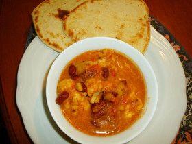 カリフラワーと豆のインドカレー
