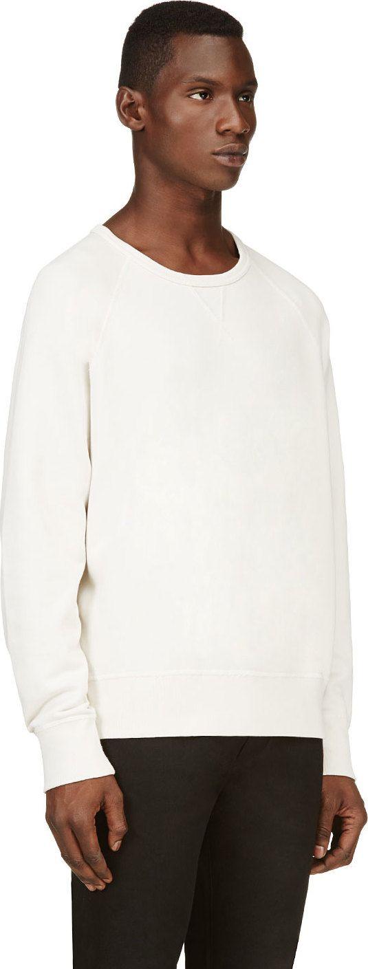 Acne Studios: Cream Classic Varsity Sweatshirt | SSENSE