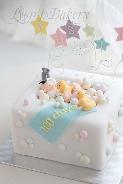 Cute bathtub cake