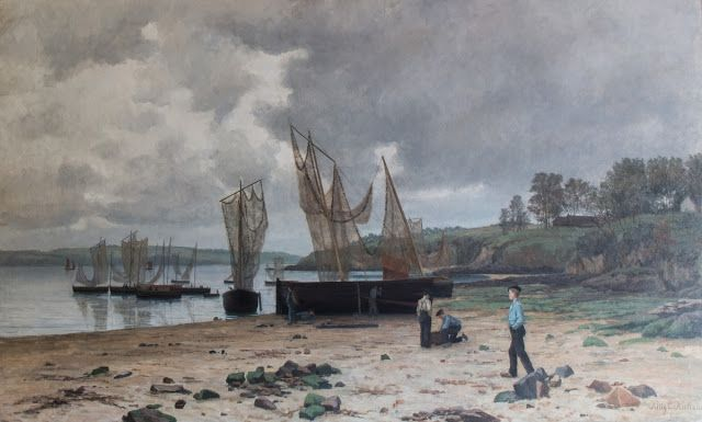 Kitty Lange Kielland (1843-1914), Kystlandskap i Bretagne - 1881