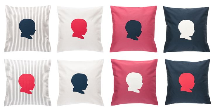Our customized, handmade, organic cotton pillows.