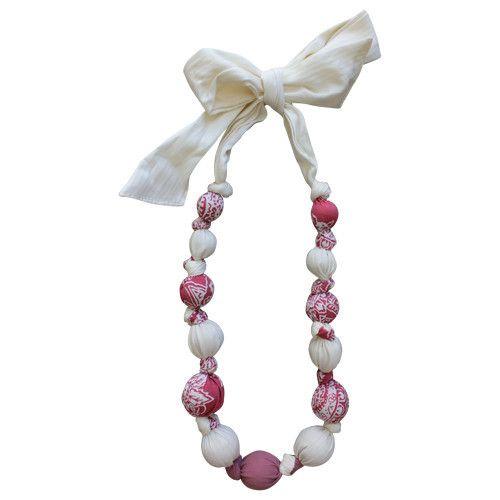 Strawberries & Cream Cotton Pretty Necklace   Daisy&Moose