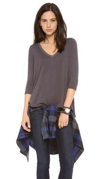 Three Dots Relaxed High Low Top