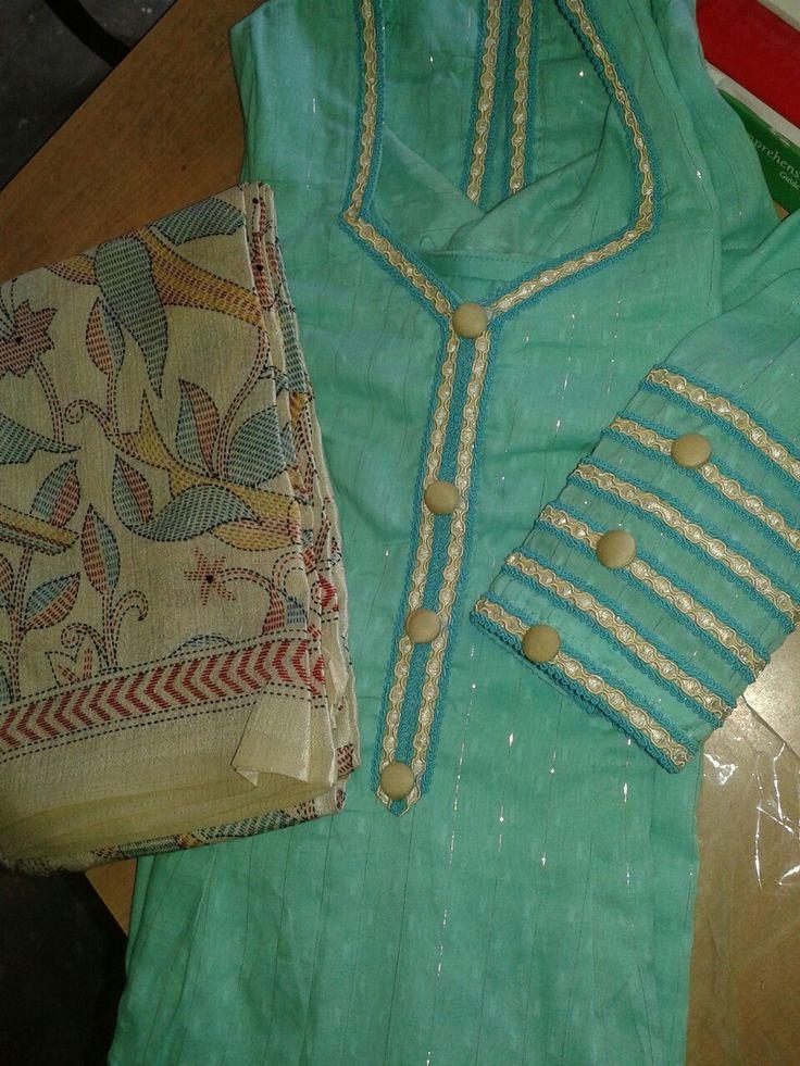 Beautiful suit with designer dupatta. ..punjabi suit gallery 9872426933.