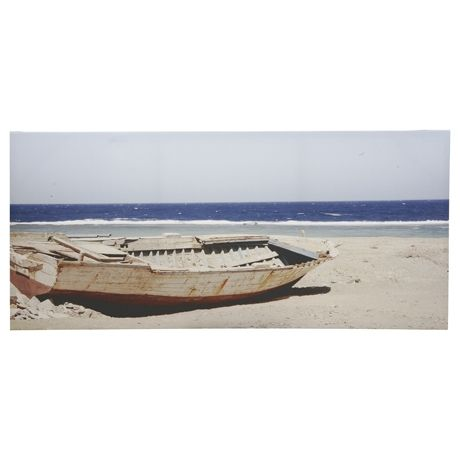Row Boat Canvas 68x146cm | Freedom Furniture and Homewares