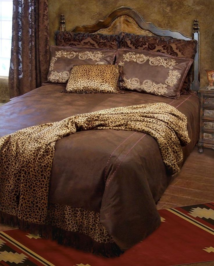 Western Bedding Set Bed Comforter Twin Queen King Rustic Cabin Lodge Brown  New #Carstens #
