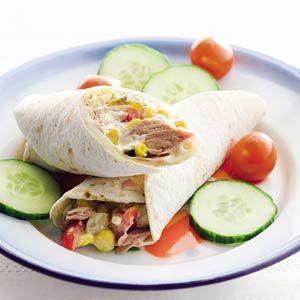 Recept - Tortillawrap met tonijn - Allerhande Maar dan wel onze eigen variant - volgt