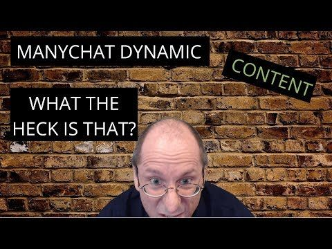 ManyChat Dynamic Content - API  How to use the ManyChat Dynamic