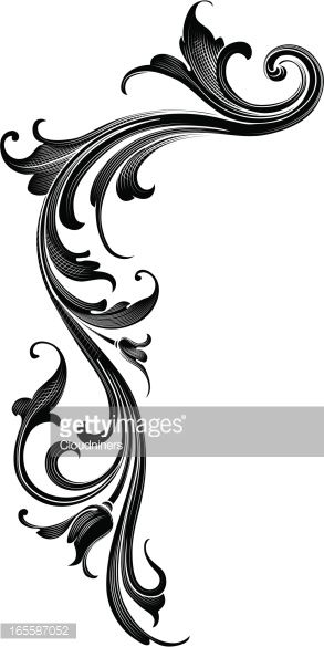 Vector Art : Black Arabesque Flow