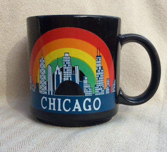 1980's Chicago Souvenir Mug