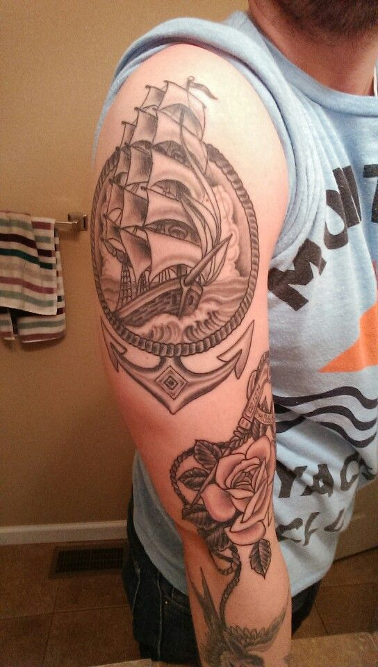 Nautical sleeve coming along... Props to Matt Sager at Th'Ink Tank Tattoo Denver!