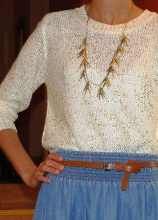 Kup mój przedmiot na #vintedpl http://www.vinted.pl/damska-odziez/swetry-z-dzianiny/12253693-sweter-asymetryczny-zlota-nitka-ff-34-36-s-xs-jak-nowy