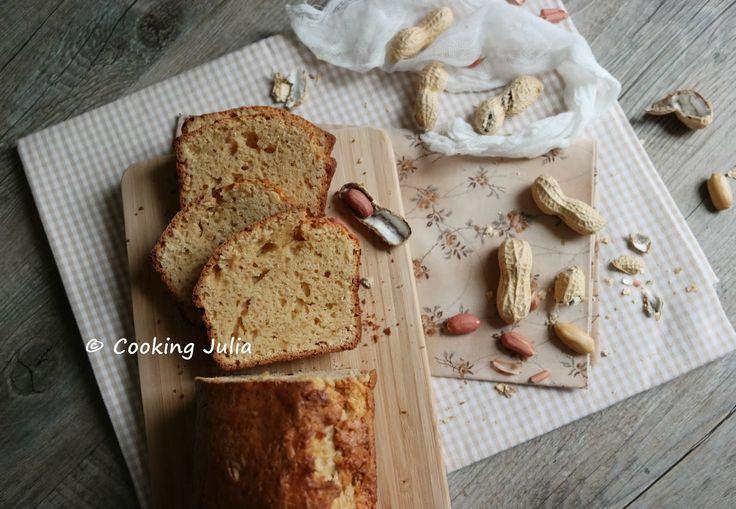 Cake au beurre de cacahuète au Thermomix (peanut butter cake/bread) // cooking julia