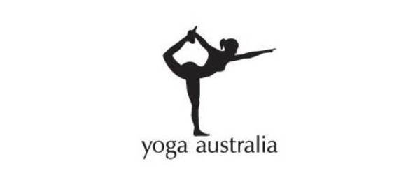 Yoga Australia  You can see Australia in the white space between the dancer's leg and arm