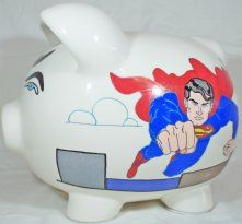 Superman piggy Bank