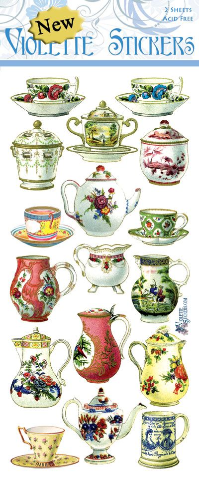 Violette Stickers P55-French China