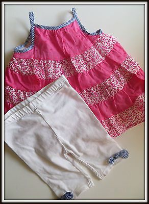 First Impressions Baby Girl 2 Piece Capri Outfit  3 - 6 Months Spring Summer NEW