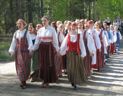 Finland. Finnish traditional costumes.