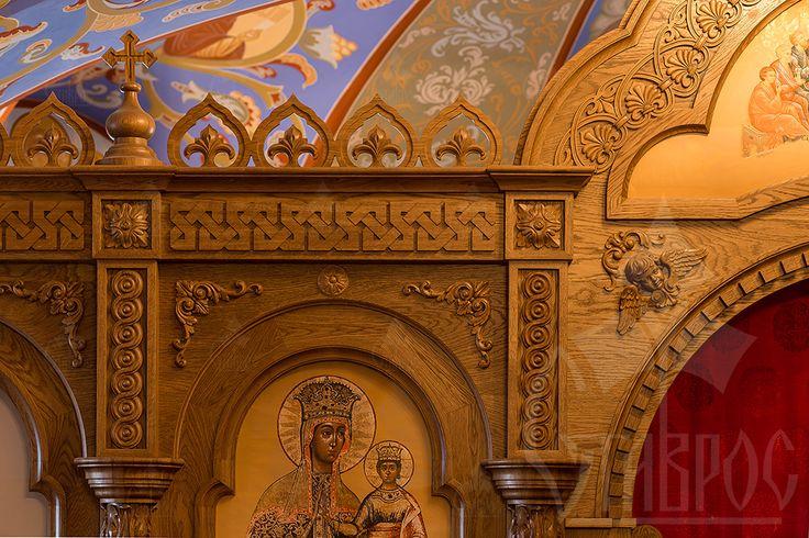 Резной коностас для православного храма в городе Стрельне. Фрагмент.  #иконостас #храм #стрельна