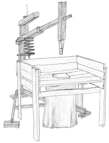 A simple wood splitting machine that lets gravity do all of the hard work.