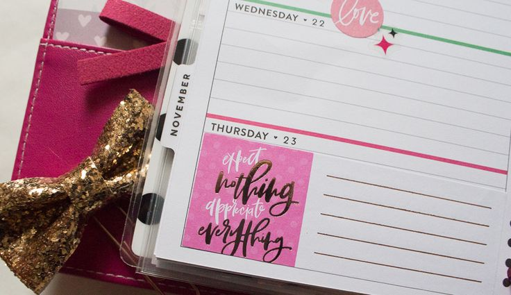 Mini Happy Planner Glam Girl Spread | JM Creates Blog