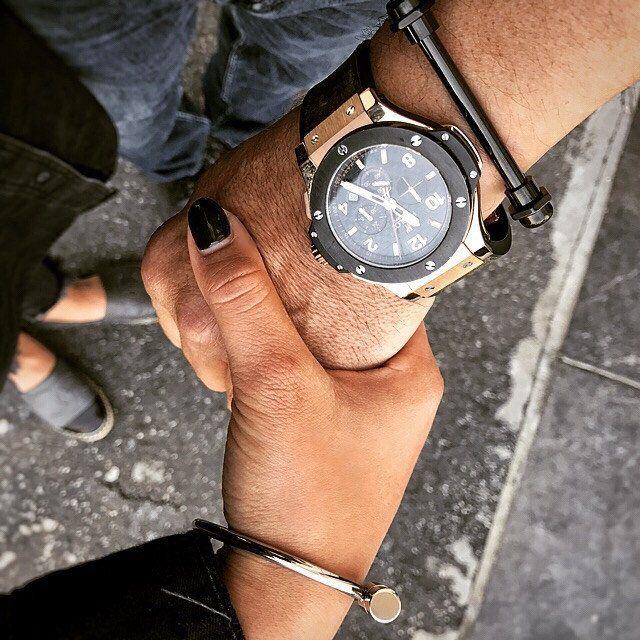 Men Black Bracelet from Stainless steel