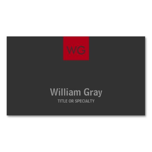 Modern Monogram Red Square Dark Business Card. I love this design! It is available for customization or ready to buy as is. All you need is to add your business info to this template then place the order. It will ship within 24 hours. Just click the image to make your own!