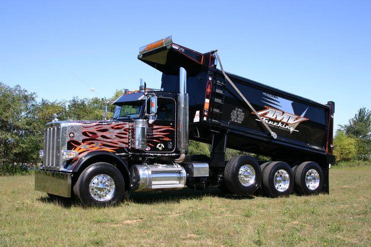 Tri Axle Show Trucks : Peterbilt custom tri axle dump pinterest