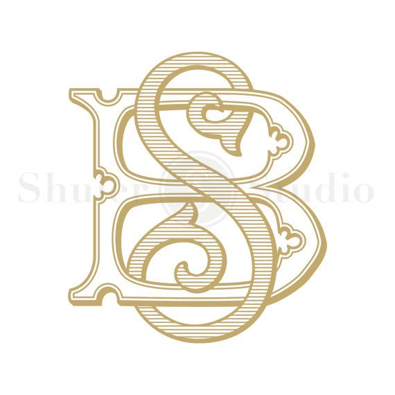 BS Monogram SB Monogram Custom Wedding Monogram by ShulerStudio                                                                                                                                                                                 More