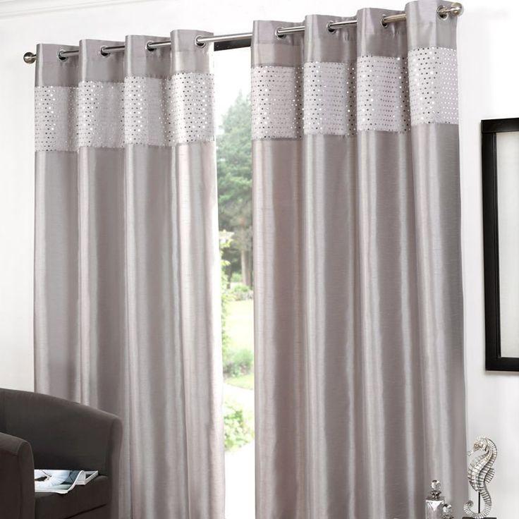 Grey Silver Curtains